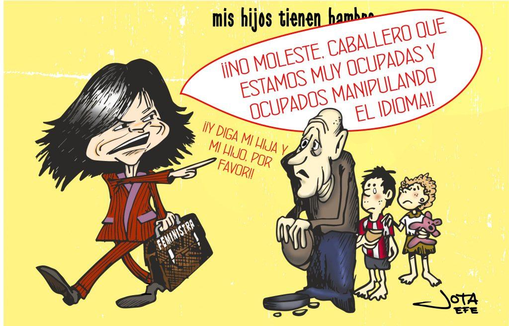 Carmen Calvo, caricatura
